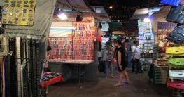 Der Temple Street Night Market in Hongkong