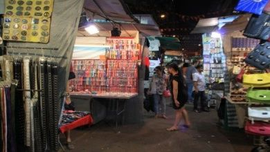 Der Temple Street Night Market in Hongkong